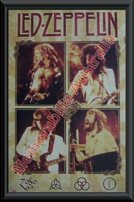 Led Zeppelin Framed Poster