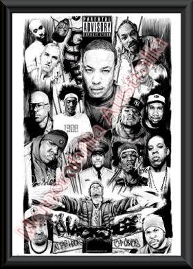 West Coast Rappers Poster Rap gods framed posterWest Coast Rappers Poster
