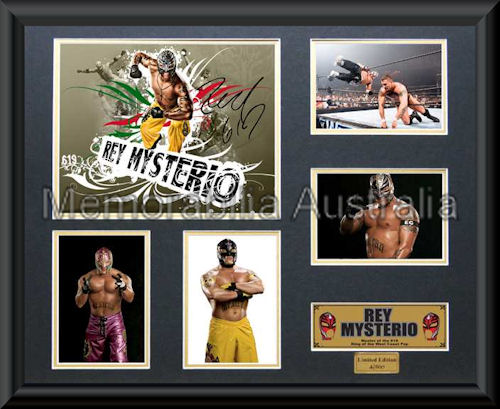 Mysterio LE Photo Montage Framed