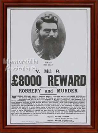 Ned Kelly Reward Poster
