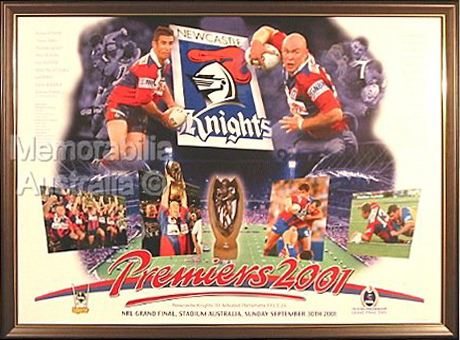 2001 Newcastle Knights Grand Final Print