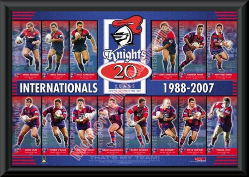 Newcastle Knights Internationals Framed