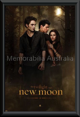 New Moon Twilight Poster Framed