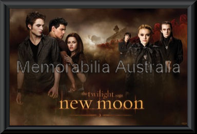 New Moon Poster Framed