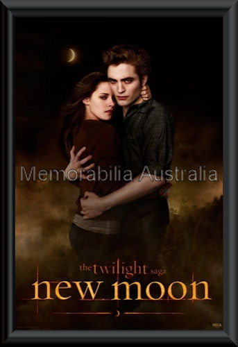 New Moon Ed and Bella Poster Framed
