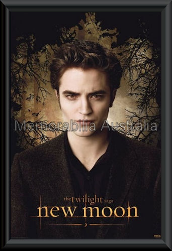 New Moon Edward Poster Framed