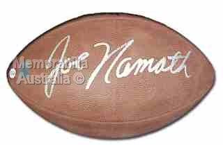 NFL Signed Football - Joe Namath