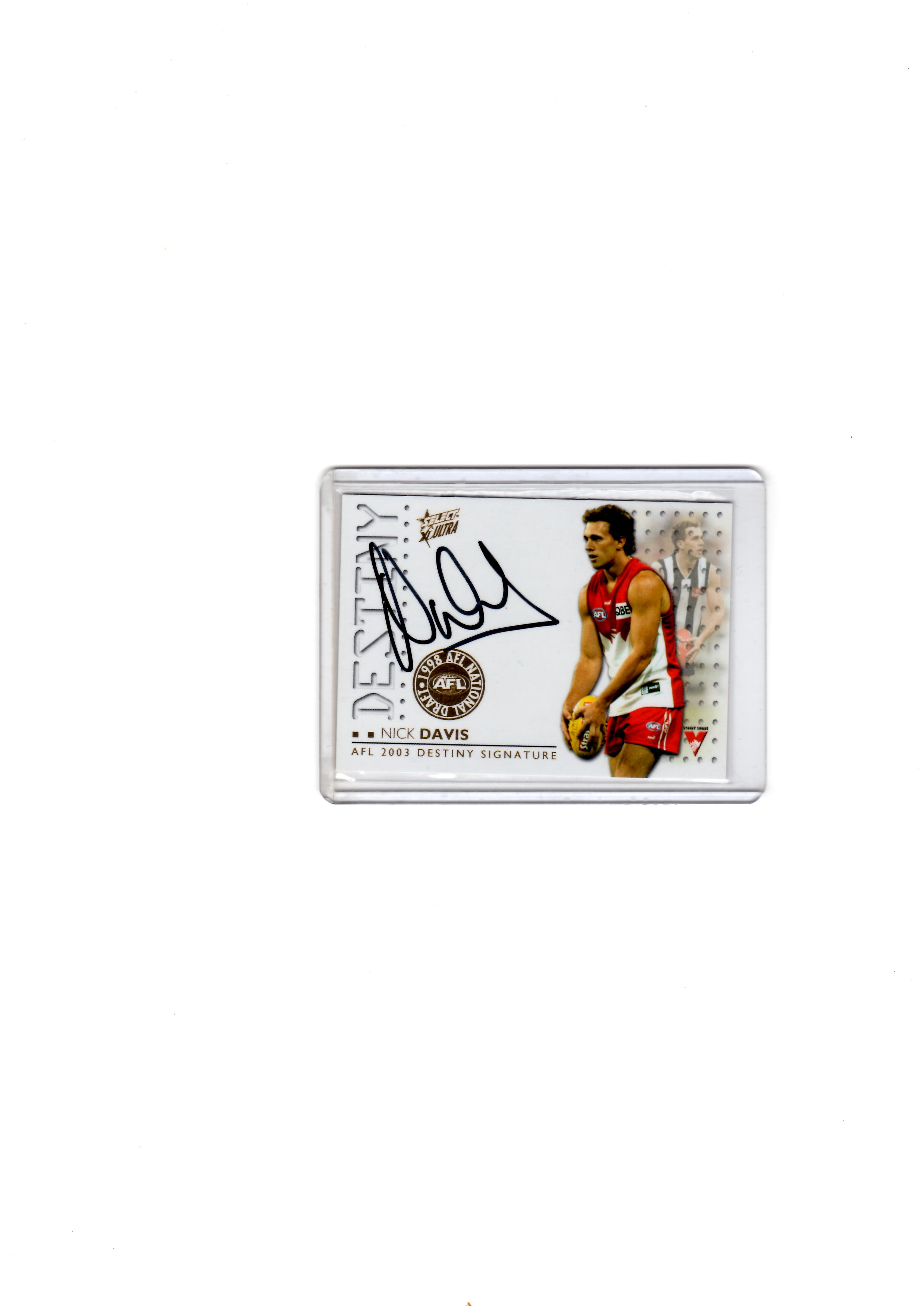 Swans Nick Davis Destiny signature