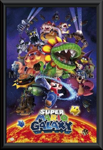 Nintendo Super Mario Poster Framed