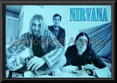 Nirvana Poster Framed