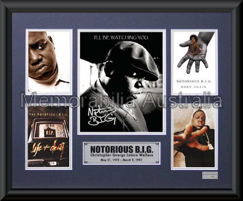 Notorious BIG LE Montage Framed