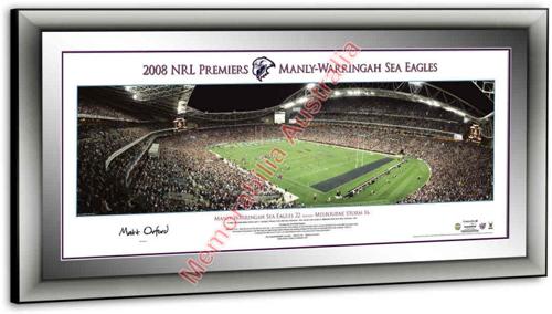 2008 Manly Sea Eagles Premiership Panoramic