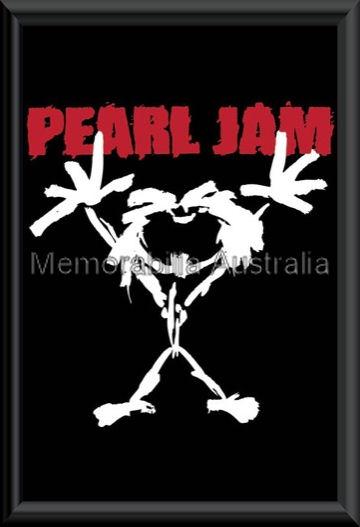 Pearl Jam Stickman Poster Framed