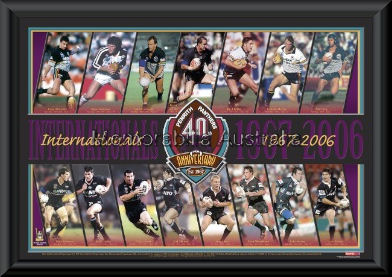 Penrith Panthers Internationals Framed
