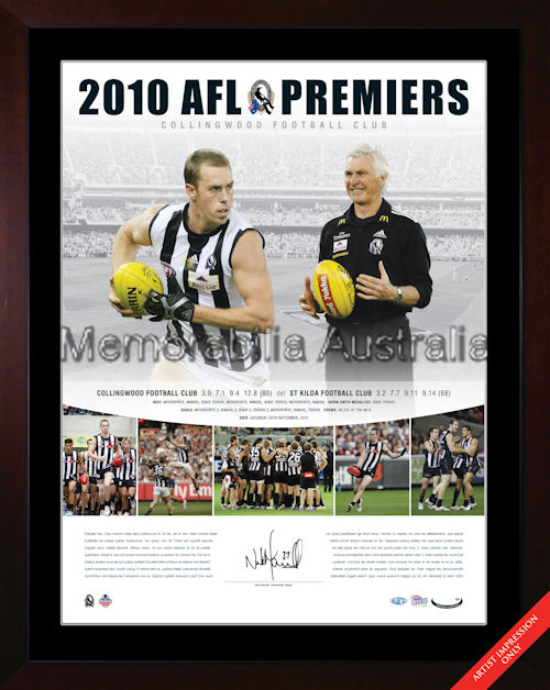 Collingwood 2010 Signed Photopiece