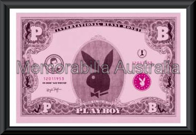 Playboy Dollar Bill Poster Framed