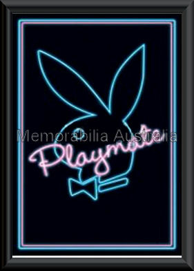 Playboy Neon Poster Framed