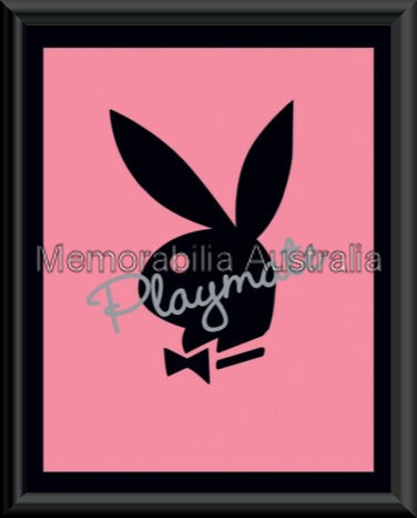 Playboy Pink Logo Mini Framed