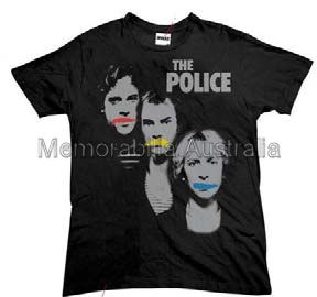Police 3 Faces Mens Tshirt