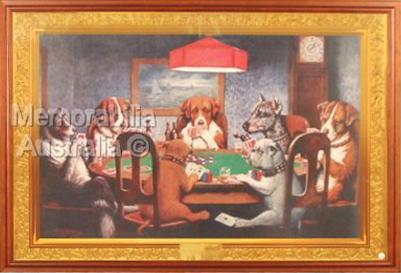 Poker Dogs Framed Poster
