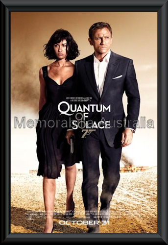 Quantum Of Solace Movie Poster Framed
