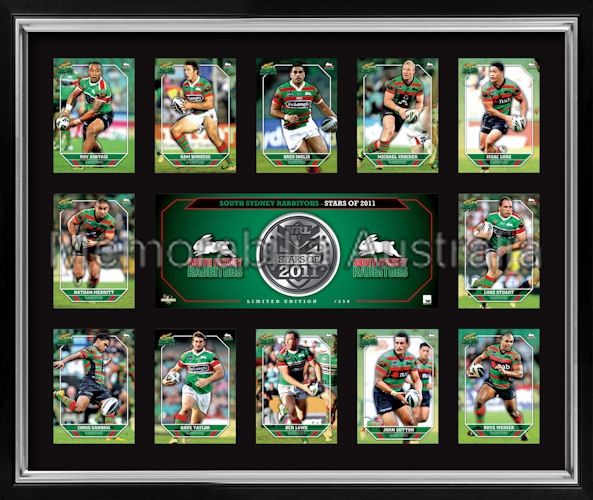 Rabbitohs 2011 Medallion Print Framed
