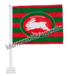 South Sydney Rabbitohs NRL Car Flag