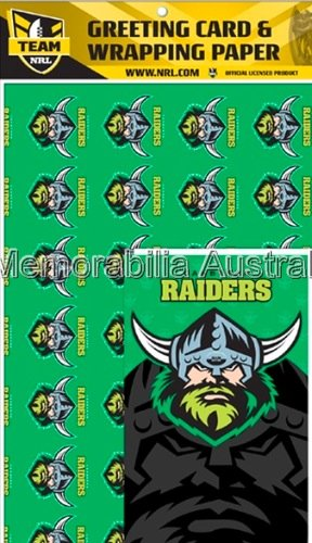 Canberra Raiders  Card and Wrap Pack