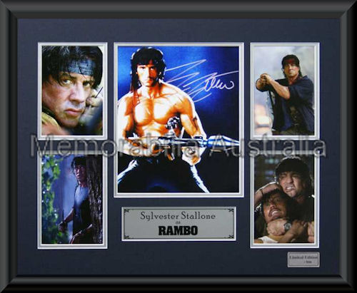 Rambo LE Montage Framed