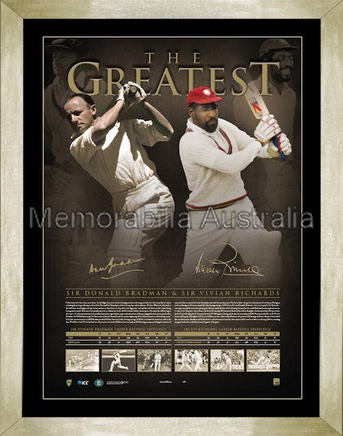 The Greatest Bradman Richards Framed
