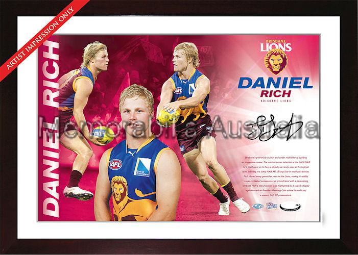 Daniel Rich Signed AFL Starshot