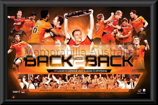 Brisbane Roar 2012 Premiers Print framed
