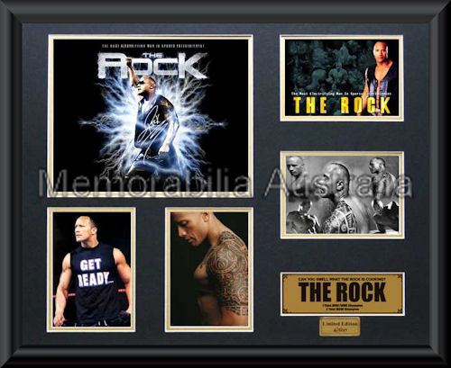 Rock LE Photo Montage Framed