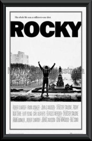 Rocky Movie Poster Framed