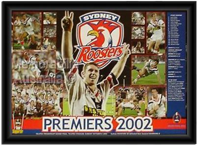2002 Sydney Roosters Premiership Print