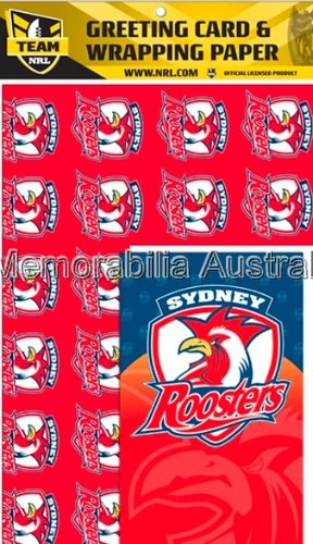 Sydney Roosters  Card and Wrap Pack