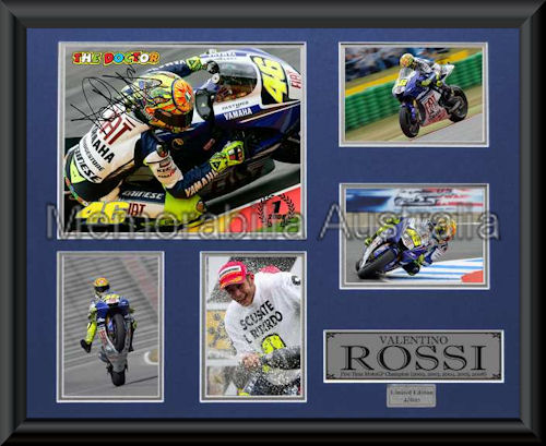 Valentino Rossi LE Montage Framed