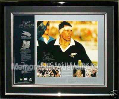 Wayne Shelford signed 'Pride of the All Blacks'