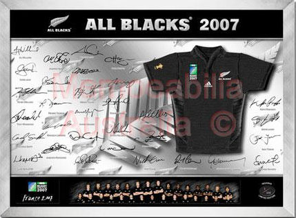 All Blacks Rugby World Cup 2007 Mini Jersey :: New Zealand