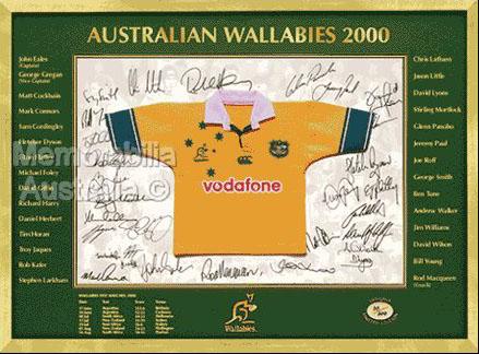 Australian Wallabies 2000 Mini Jersey