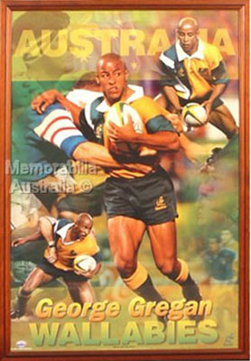 George Gregan Framed Poster