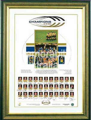 1999 World Cup Champions Lithograph - Wallabies