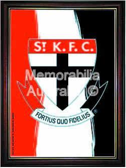 St. Kilda Framed Logo Poster