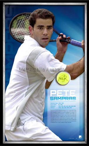 Sampras Signed Ball Framed LE