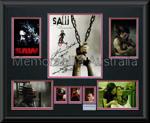 Saw Movie LE Montage Framed
