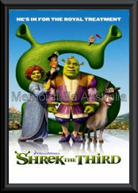 Shrek 3 Movie Poster Framed
