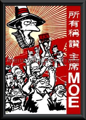 Moe Simpsons Poster Framed
