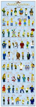 Simpsons Door Poster Classic Quotes
