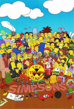Yellow Album Simpsons Giant Poster