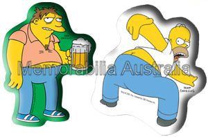 Simpsons Homer and Barney Sticker